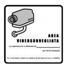 Adesivo obbligatorio per aree videosorvegliate - ADESIVO AREA VIDEOSORVEGLIATA PVC Led e Varie