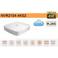 NVR IP 4K ULTRA-HD 4 Canali 8MP 1HDD P2P - Dahua - NVR2104-4KS2