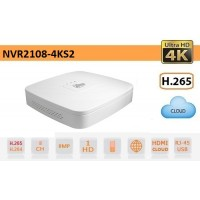 NVR 8 CANALI IP 4K 8MPX ULTRA-HD H.265 AUDIO - DAHUA - NVR2108-4KS2