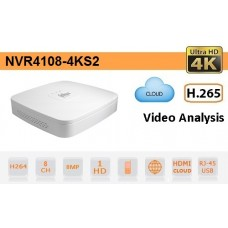 NVR 8 Canali IP ULTRA HD 4K H.265 80Mbps ONVIF - NVR4108-4KS2
