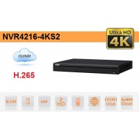 NVR IP 16 Canali H.265 4K 8MP 200Mbps Video Analisi - Dahua - NVR4216-4KS2