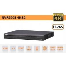 NVR IP 8 Canali 4K Ultra-HD 12Mpx 320Mbps H.265 - Serie Pro - Dahua - NVR5208-4KS2