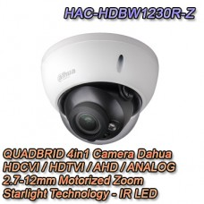 Telecamera da esterno IR 2MP Motorizzata Starlight IK10 - HAC-HDBW1230R-Z