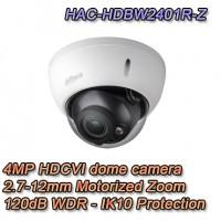 Telecamera Dome Eyeball HDCVI 4MP 2.7-12mm Motorizzata 120dB - Pro Dahua - HAC-HDW2401R-Z