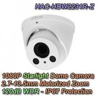 Telecamera Dahua 2MP 4in1 Dome Motorizzata Audio - HAC-HDW1230T-Z-A