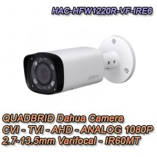 TELECAMERA BULLET DAHUA HDCVI 4IN1 1080P IR 60MT - HAC-HFW1220R-VF-IRE6