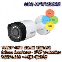 TELECAMERA FULL HD 1080P DAHUA 4IN1 HDCVI / HDTVI / AHD / ANALOGICA 2.8MM - HAC-HFW1220RM