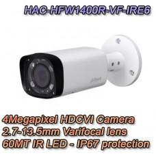 Telecamera da esterno HD CVI 4MP Varifocale IR 60 MT Dahua - HAC-HFW1400R-VF-IRE6