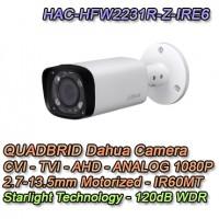 Telecamera Dahua 1080P 4in1 Starlight IR60 Motorizzata WDR - HAC-HFW2231R-Z-IRE6