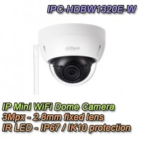 Telecamera Wireless Mini Dome IP 3MP 2.8mm - Dahua - IPC-HDBW1320E-W