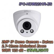 Telecamera IP 1080P Mini Dome Motorizzata H.265 Starlight PoE - Dahua - IPC-HDW2231R-ZS