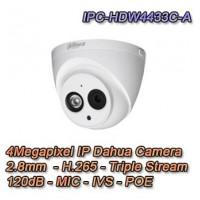 TELECAMERA IP 4 MEGAPIXEL 2.8MM STARLIGHT POE - DAHUA - IPC-HDW4433C-A