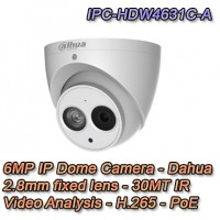Telecamera IP 6MP 2.8mm H.265 Starlight - Dahua - IPC-HDW4631C-A