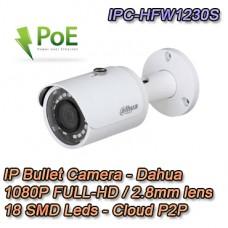 TELECAMERA IP DAHUA 1080P 2.8MM ONVIF P2P POE - IPC-HFW1230S