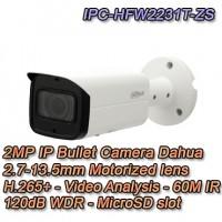 Telecamera Dahua IP 2MP Motorizzata IR60 H.265+ WDR PoE+ - IPC-HFW2231T-ZS