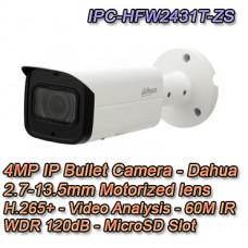 TELECAMERA DAHUA IP 4MP MOTORIZZATA IR60 H.265+ WDR POE+ DAHUA - IPC-HFW2431T-ZS