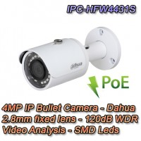 TELECAMERA IP DAHUA 4MP 2.8MM H.265 IVS WDR POE - IPC-HFW4431S