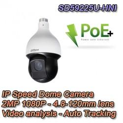 Speed Dome 2MP Starlight Termoventilata Video Analisi e Auto Tracking - Dahua Pro - SD59225U-HNI