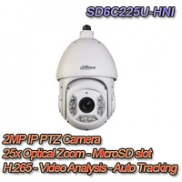 TELECAMERA IP 1080P PTZ STARLIGHT H.265 VIDEO ANALISI & AUTO TRACKING - DAHUA - SD6C225U-HNI
