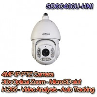 TELECAMERA DOME PTZ IP 4MP H.265 30X VIDEO ANALISI&AUTO TRACKING - PRO DAHUA - SD6C430U-HNI