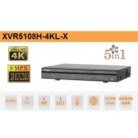 DVR 5IN1 H265 8 CANALI ULTRA HD 4K 8MP - DAHUA - XVR5108H-4KL-X