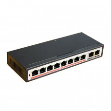 Switch Desktop 10 Porte RJ45 Plug & Play - SWITCH 8 POE Accessori CCTV