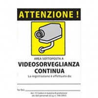 Sticker surveyed zones - STICKER AREA video surveillance PVC