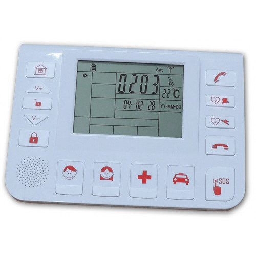Social alarm control unit with multi-sensor hybrid antifurto- Helpami Gold
